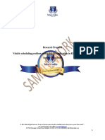 Vehicle Scheduling Problem Research Proposal-Tutorsindia
