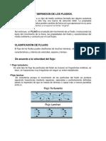 Clasificacion y Definicion de Los Fluidos