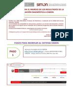 Instructivo Para El Ingreso de Los Resultados de La Evaluación Diagnóstica a Simon - Primaria y Secundaria (1)