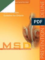 Msd Prevention Ont Guideline 2007