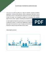 Infraestructura Portuaria y Movimientos Logísticos de Carga