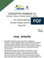 Conceptos Hebreos 19 Bitajon