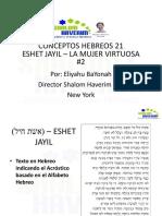 Conceptos Hebreos 21 Eshet Jayil