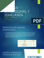 Analisis Dimensional y Semejanza