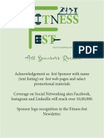 Fitness Fest 2018 - Sponsorship Chandigarh