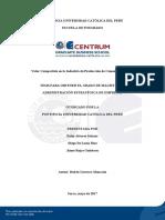 Valor Compartido en La Industria de Producción de Cemento en El Perú