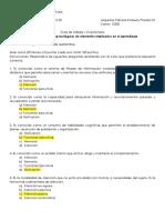 Guía de Trabajo Explicaciones Neuropsicológicas Del Aprendizaje 2017
