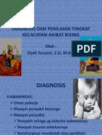 Diagnosis Dan Penilaian Tingkat Kecacatan Akibat Bising
