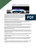 Drepturile si obligatiile  consumatorului de gaze naturale