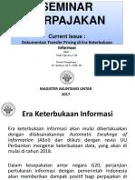 Seminar Perpajakan (AEoI - Dokumentasi Transfer Pricing Di Era Keterbukaan )
