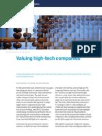 Valuing High-tech Companies