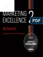 Marketing Excellence 2 Mcdonalds (Brand Revitalisation) Case Study