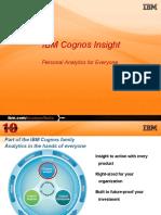 Cognos Insight PPT