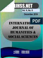 Vol 8 No 6 - December 2016