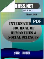 Vol 8 No 1 - March 2016