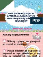 Batayang Opisyal Report