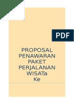 Proposal Penawaran Paket Perjalanan Wisata