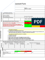 Fire Risk Assessment Form