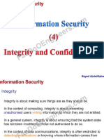 Information Security - Lecture 4 - Integrity and Confidentiality