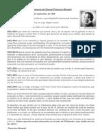 Testamento del General Francisco Morazán