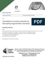 Graswald Vulnerability of Mortar Projectiles 2010