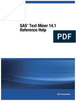 SAS Text Miner Refrence