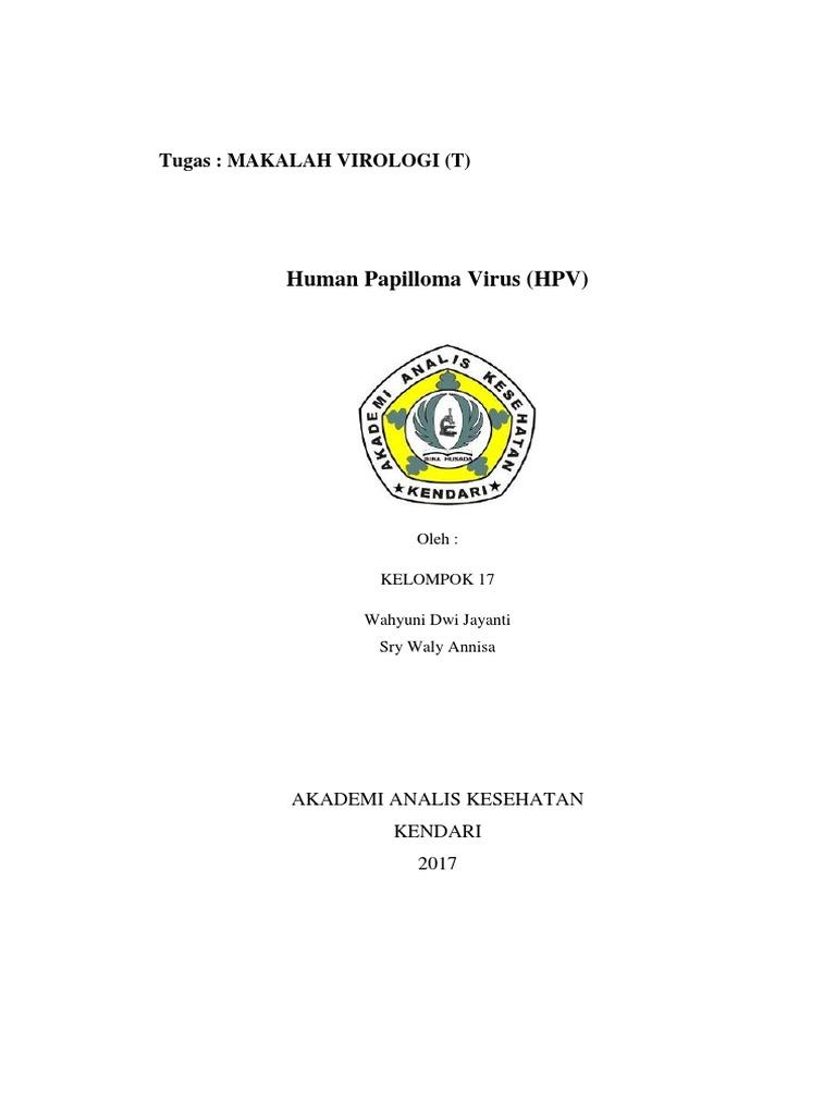 makalah human papillomavirus hpv)