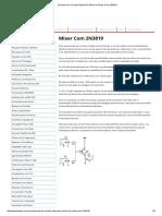 Esquema de Circuito Eletrônico Mixer de Áudio Com 2N3819 (PDF)