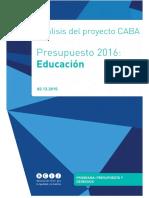 Documento Final Sobre El Presupuesto Para Educacion