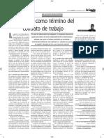 La Muerte Como Término Del Contrato de Trabajo - Autor José María Pacori Cari