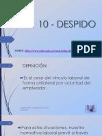 Bolilla 10 - Despido.pdf