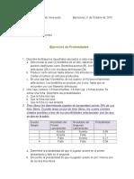 Ejercicios de Probabilidades Octubre 2015