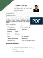 96341493 Curriculum Vitae