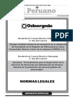 Procedimiento Registro Denunicas Generales Osinergmin 094 2017 Os CD