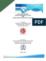 Rajalakshmi College Naac-ssr-2016 Old Format Affil (1)