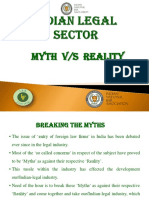Presentation - Indian Legal Sector-Myth vs Reality