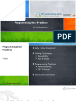 Programming Best Practises