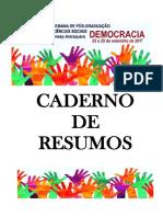 CADERNO DE RESUMOS DA XVI SEMANA DE PÓS-GRADUAÇÃO EM CIÊNCIAS SOCIAIS DA UNESP