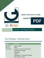 IIMA Daksh PGPX Resume Preparation