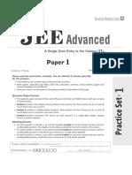Arihant-jeeadvance Practiceset 1
