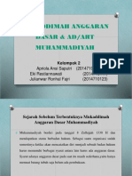Muqaddimah Anggaran Dasar & Adart Muhammadiyah