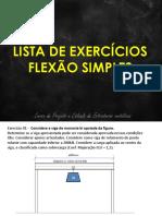Lista de Exercícios Barras Flexionadas Resolvido
