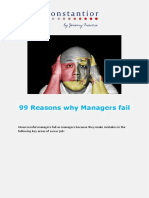 99 Reasons Why Managers Fail