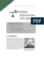 Topik 4 Sistem Kepercayaan Dan Agama