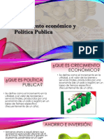 Economia Politicas Publicas y Crecimiento Economico.