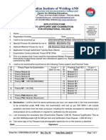 Application Form - Iw Examination