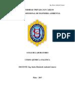 Guias de Laboratorio Quimica Analitica 2017 - II