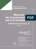HT70 OperatingManual ES OPRHT70-21