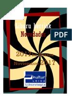 2017ko azaroko liburu berriak -- Novedades  de noviembre del 2017