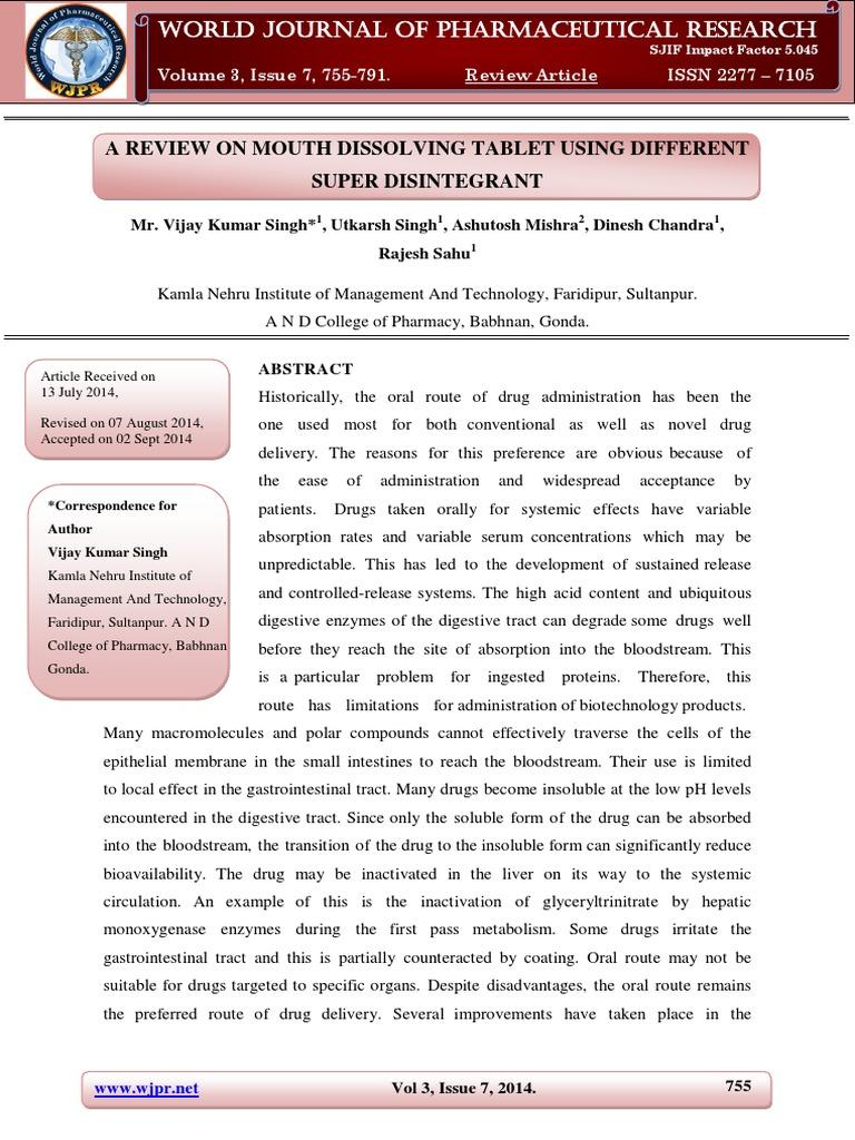 TSS 5   Tablet (Pharmacy)   Pharmaceutical Formulation